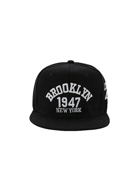 Laslusa Brooklyn 1947 Hip Hop Snapback Şapka Siyah